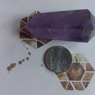 Amethyst double terminated