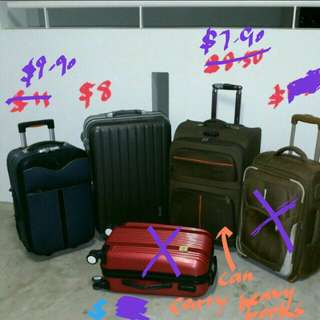 Small cabin and large size luggage trolley traveller bag