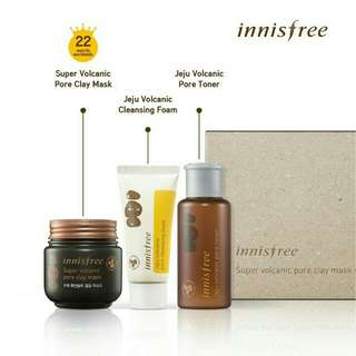 Innisfree Super Volcanic Mask set
