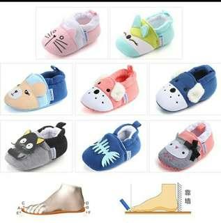 Baby Boy Girls Cotton Crib Shoes Infant Anti Slip Toddler Shoes