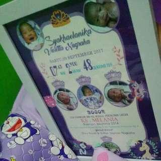 Hadiah Bayi Lahir ,Biodata Bayi