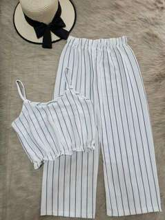 Stripe Cami Top and Square Pants
