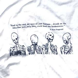 T-shirt with poem writing