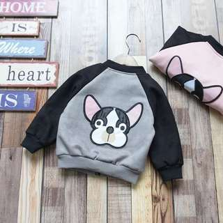 Boys dog baseball jacket