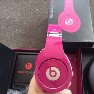 Beats by Dr. Dre Studio headphones / hotpink (wired)