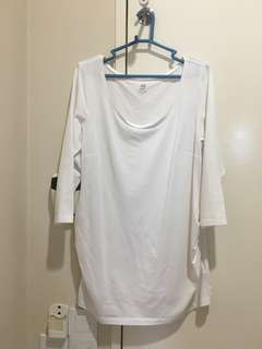 H&M white maternity blouse size M