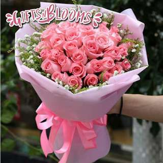Fresh Flower Bouquet Anniversary Birthday Flower Gifts Graduation Roses Sunfowers Baby Breath -  2B50     99