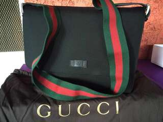Gucci Techno Canvass Messenger Bag