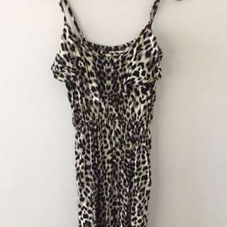 Leopard Print Dress - Size S