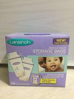 Lansinoh breastmilk storage bags, 100 counts