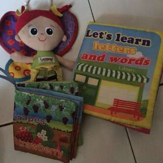 Baby plush toy n book