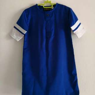 Jubah Baby Preloved Royal Blue 6-9 Month