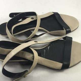Authentic hussein chalayan gray and black flat wrap sandals - 37. Orig price 20000php