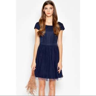 LAB Love And Bravery Arlene Tulle Dress in Navy
