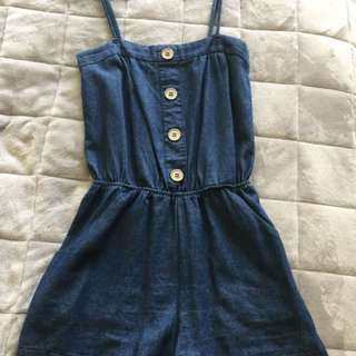 Denim Jumpsuit - Size 8