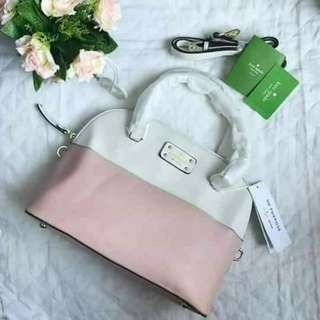 Dome Type Pink-White Bag