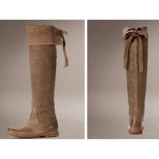 Frye Celia Over The Knee Riding Boot - Tan Brown