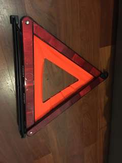 Honda highly reflective portable emergency triangle
