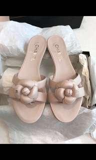Chanel 粉色拖鞋 100% real& 100% new