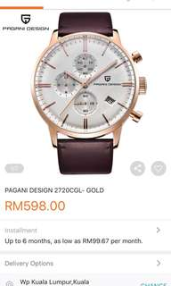PAGANI DESIGN AUTHENTIC GOLD WATCHES