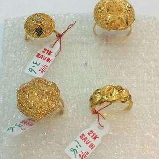 21ct gold ringa