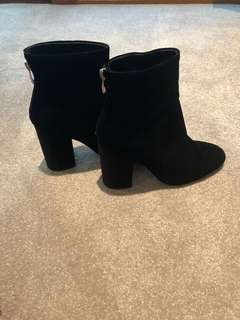 TONY BIANCO SUEDE BOOTS. Brand new!! Regretful sale but I literally have never worn them. Will negotiate price