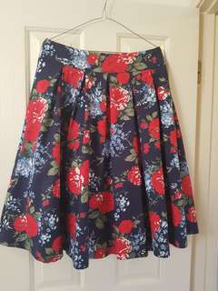 Blue, red and white Review skirt size 12