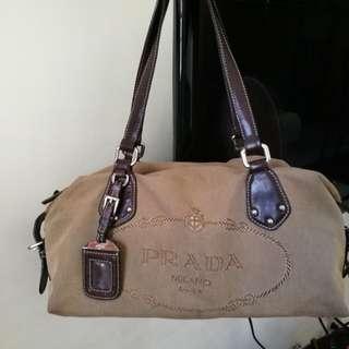 FINAL SALE Authentic Prada Jacqaurd Logo BR3461 Bag