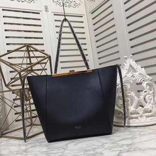 Celine Cabas Clasp Bag