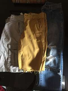 Bundle of shorts and pants