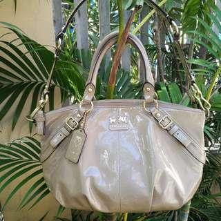 FINAL SALE Authentic Coach Madison Patent Leather Sophia Satchel Bag