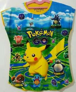 Pokemon Go T shirt (Size 6, 8,10,12,14 years old)