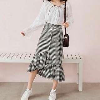 Gingham Midi Skirt (reduced)