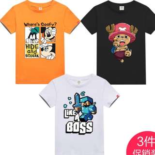 3pcs Set Tee Shirts Children Top Promo 👍