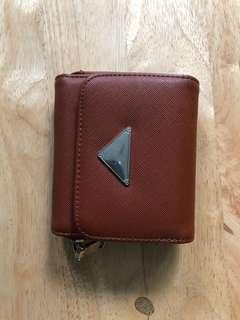Brown folded wallet