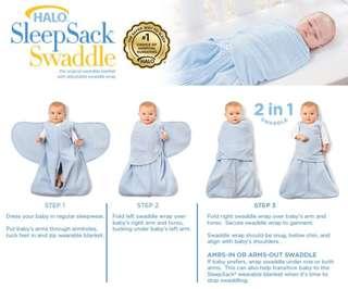 Halo SleepSack Swaddle (NB - 3 months)