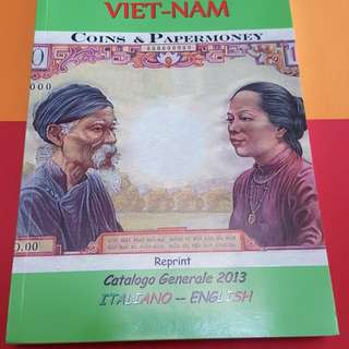 Vietnam coins N papermoney catalogue 2013 italy and english version.condition New