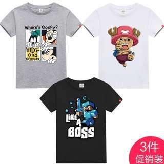 3pcs Set Promo Kids Boys Girls Tee Shirt 💫