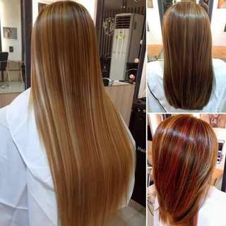 CHOCOLATE FUDGE BRAZILLIAN KERATIN 😍  Why spend thousands para lang mo nice ang hair or mo straight hehe NO NEED nana mga besh try this! I there you. Money back if not😉😉   BRAZILLIAN hair!💕  LIMITED STOCKS RA😍😍