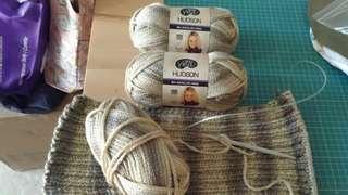 Moda Vera Hudson yarn (3 balls + 1ball already knitted half way)