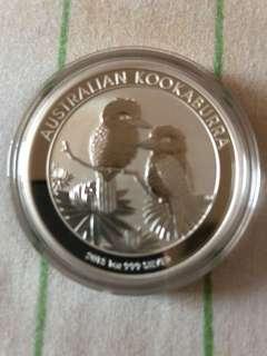 2013 Australia Kookaburra 1 oz Silver Coin