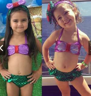 Baby Girls Swimwear Tops + Brief Suit