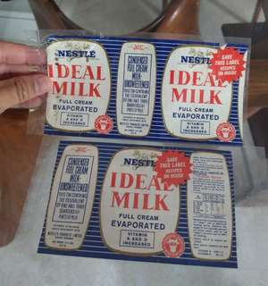 Vintage milk label (Ideal milk)
