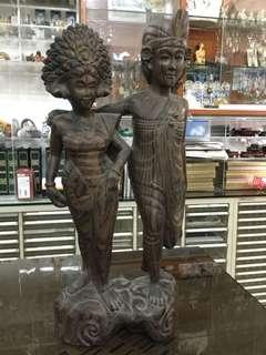 復活節精選- 印尼雕刻- 夫婦