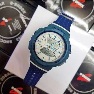 Authentic Brand New Casio Baby-G Running Series BGA-240-2A2 Blue Ladies Sports Watch BGA-240-2A BGA240-2A2 BGA240-2 BGA240-2A2 BGA240L