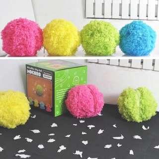 Microfiber mop ball