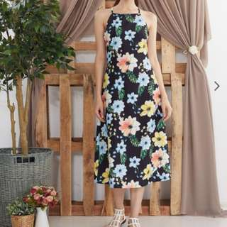 BNWT Ninth Collective Hibiscus Maxi Dress
