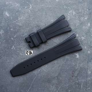 AP RO 26mm Black Vulcanised Rubber Watch Band Strap