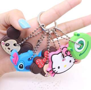 CUTE CHARACTER KEY COVER KEYCHAIN KEY ORGANIZER