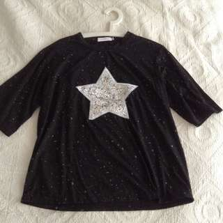 Black top with silver star